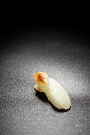 Chinese White Jade Beast Carving