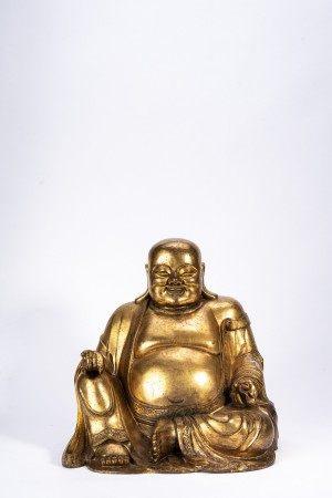 Chinese Gilt Bronze Maitreya