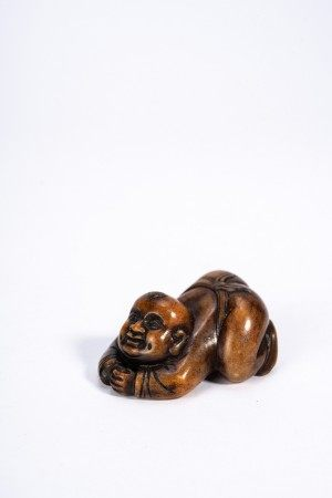 Chinese Soapstone Carving of Boy