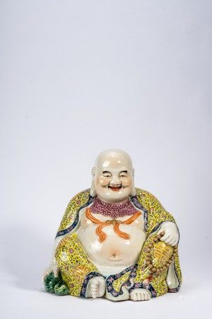 Chinese Famille Rose Figure of Laughing Buddha