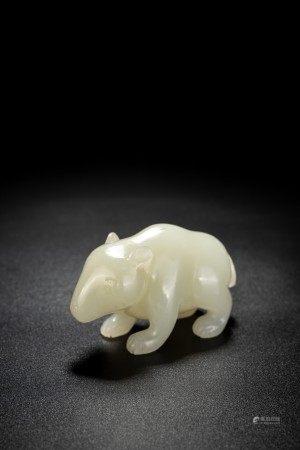 Chinese White Jade Bear