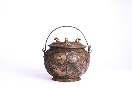 Chinese Archaic Silver Jar with Cover