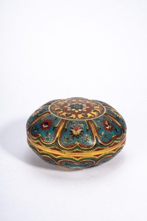 Chinese Cloisonne Enamel Box and Cover