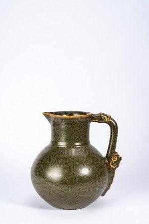 Chinese Tea Dust Glazed Ewer