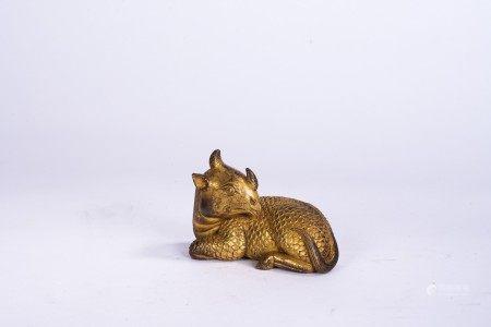Chinese Gilt Bronze Kirin Paper Weight