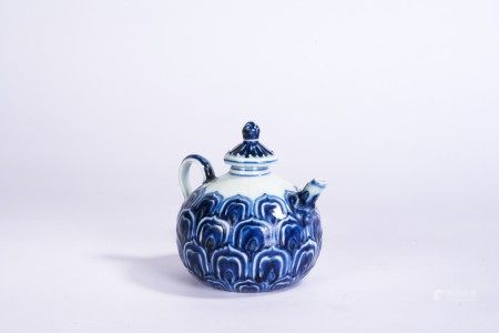 Chinese Blue and White 'Lotus' Teapot