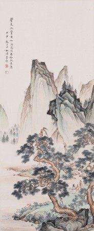Chen Shaomei, Landscape in Style of Qiu Ying