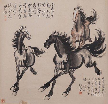 Attributed to Xu Beihong, Horses