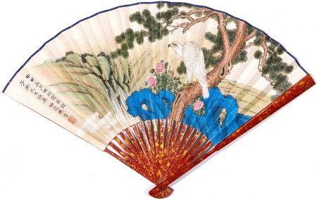 Ma Jin, White Eagle Fan Painting