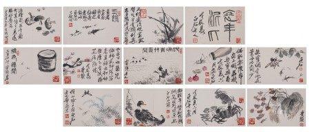Attributed to Qi Baishi, Album