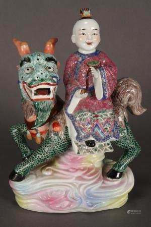 Good Chinese Porcelain Figure Group,