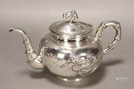 Lovely Chinese Silver Teapot,