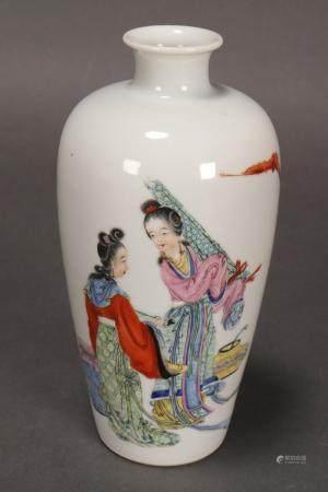 Good Chinese Polychrome Porcelain Vase,