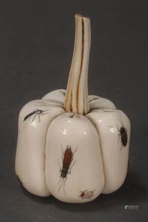 Delightful Japanese Shibayama Ivory Melon,