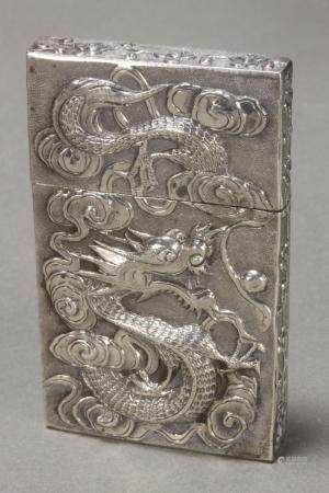 Good Chinese Silver Card Case,