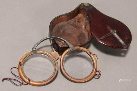 Late 19th Century Chinese Folding Horn Eyeglasses