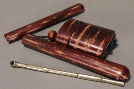 Japanese Meiji Period Tobacco Inro, Ojime,