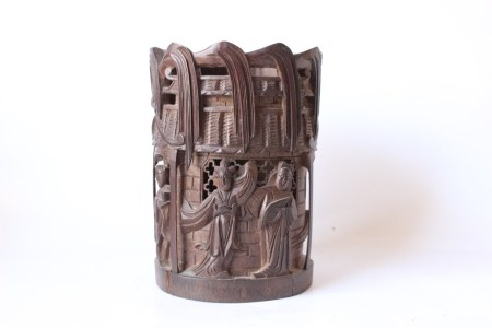 Chinese Bamboo Carved Brushpot