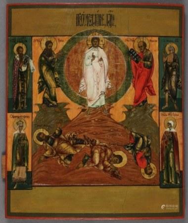 Fine 19C Russian Icon Transfiguration