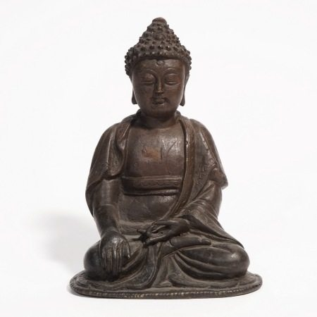 A bronze Buddha, Yuan Dynasty 元代铜佛坐像
