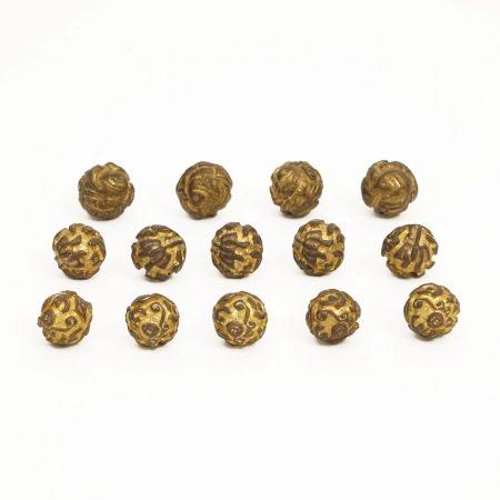 A piece of gilt bronze buckle, Qing Dynasty 清铜鎏金扣