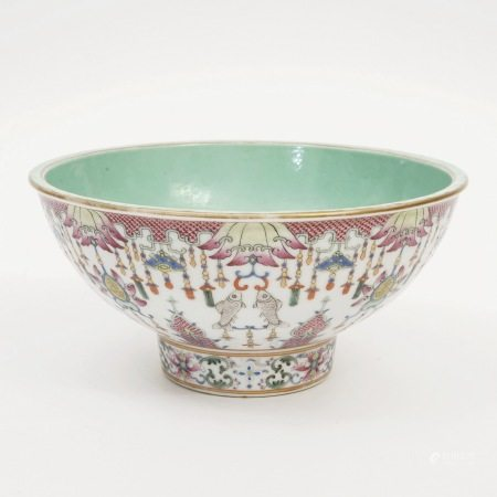 A famille rose bowl, Daoguang Period, Qing Dynasty 清道光粉彩碗