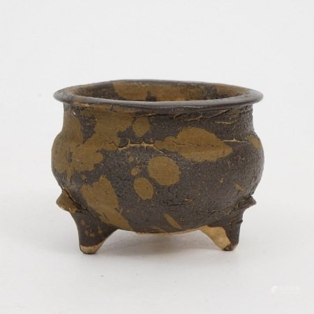 A piece of Jizhou kiln spot censer, Song Dynasty 宋吉州窑洒斑炉