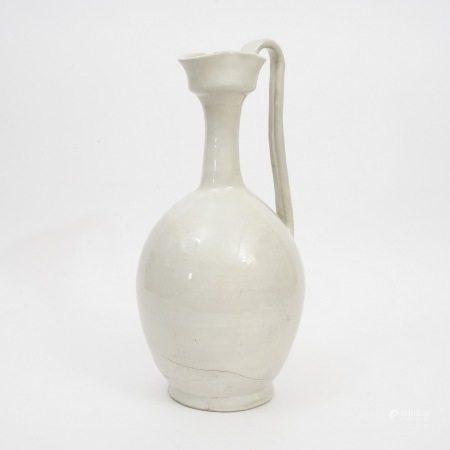 A piece of Xing kiln pot, Tang Dynasty 唐代邢窑执壶
