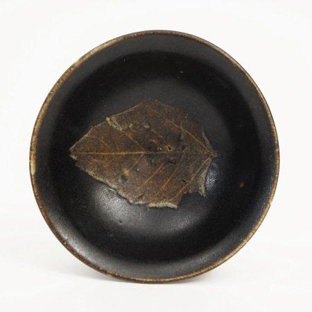 A Jizhou Kiln Bowl with Wooden Leaf Pattern, Song Dynasty 宋吉州窑木叶盏