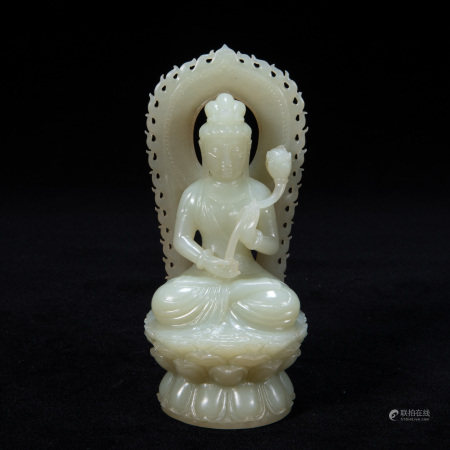 JADE GUANYIN OF QING DYNASTY, CHINA