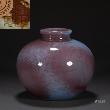 CHINA QING DYNASTY VARIABLE GLAZE JAR