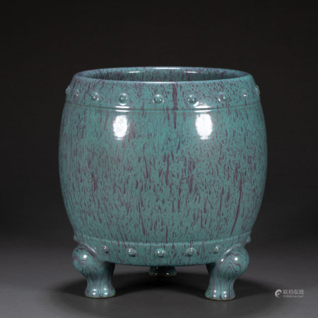 CHINESE JUN-GLAZED INCENSE BURNER, QING DYNASTY