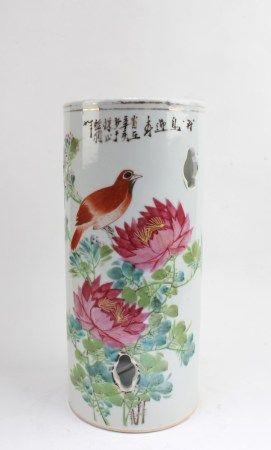 Chinese Porcelain Hat Holder