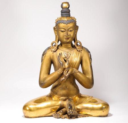 Manjusri sculpture from the 16th Century 16世纪文殊菩萨