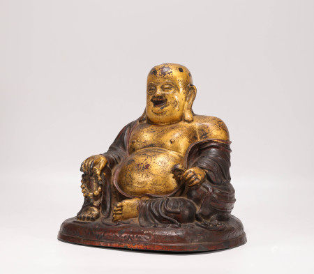 Copper and gilding buddhism sculpture from Qing 清代銅鎏金彌勒坐像