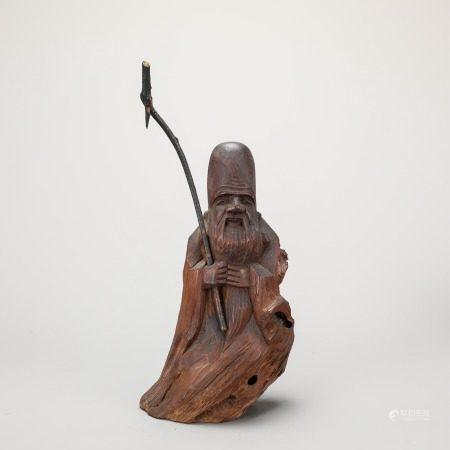 木雕寿星老像