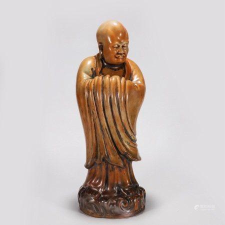 瓷塑罗汉像