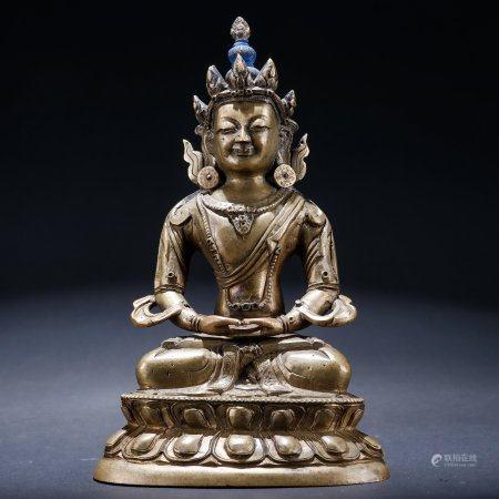 铜无量寿佛像