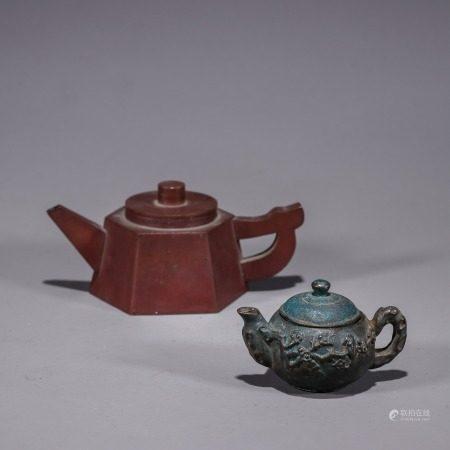 金属小茶壶两个一组