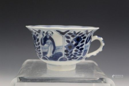 Chinese blue and white porcelain cup.