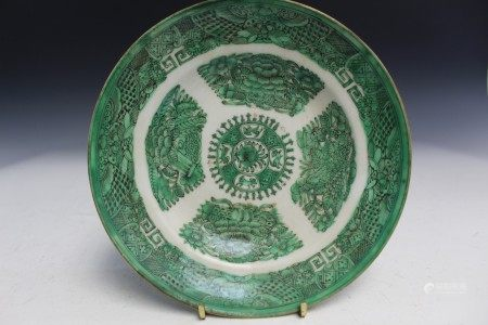 Antique Chinese porcelain plate.