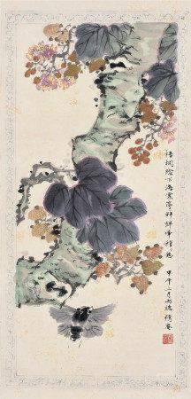 吳湖帆 花卉圖 立軸