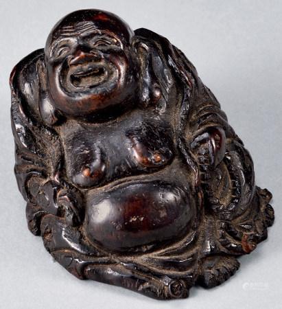 清 竹雕彌勒佛