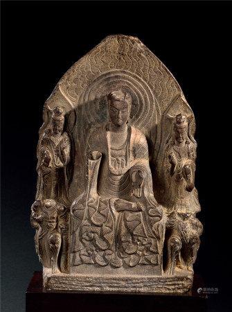 東魏 石雕阿彌陀佛三尊像