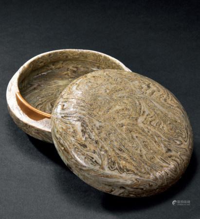十二世紀 絞胎釉蓋盒