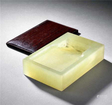 清 玉製長方硯