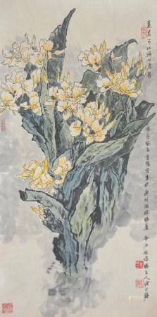 近現代 陳永鏘 羌花
