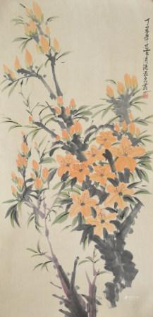 近現代 潘玉良 花卉