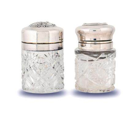 2137 GORHAM AND WHITING STERLING AND ABCG VANITY JARS