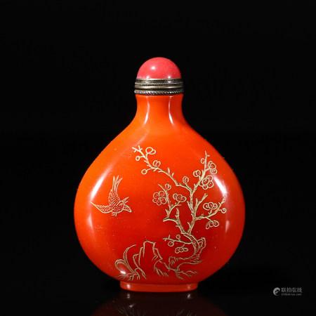 Chinese glass snuff bottle